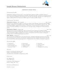 resume professional profile getessay biz administrative assistant professional resume for resume professional