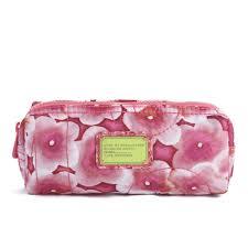 marc by marc jacobs pretty nylon aki fl narrow cosmetic bag knockout pink multi