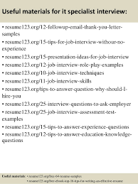 top  it specialist resume samples       useful materials for it specialist