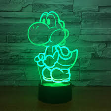 Yoshi Mario <b>3D LED</b> USB <b>Lamp</b> Cartoon Game Figure Super Acrylic ...