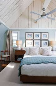 coastal bedroom ideas with wall hanging pictures and fan lighting and vaulted ceiling and turquiose walls fresh coastal bedroom ideas coastal bedroom bedroom decor ceiling fan