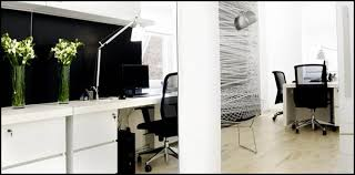 frivate office design black and white office design