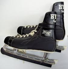 Vintage <b>HYDE</b> RED LINE <b>Men's</b> Black ICE SKATES <b>Made</b> in England