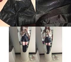 <b>2019</b> New <b>Womens Black</b> Shorts PU Faux Leather Summer Autumn ...