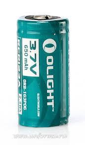 Купить <b>Аккумулятор Olight 16340</b> RCR123A <b>3</b>,<b>7</b> В 650 mAh в ...