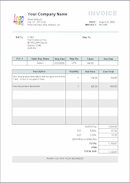 sample invoice template long product description occupying more printed invoice sample click to enlarge