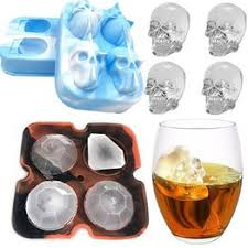 3D Skull Silicone Ice Mold Cool Whiskey Wine Cocktail Ice ... - Vova