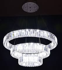 Modern Crystal Chandeliers For Dining Room Modern Crystal Chandelier With 3 Rings Luxury Led Crystal Light
