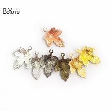 BoYuTe (<b>100 Pieces/Lot</b>) Metal Brass 12*15MM Stamping Maple ...