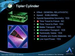 tipler cylinder time travel tipler cylinder time control and time travel