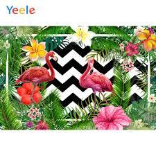 <b>Yeele</b> Flamingo Party <b>Tropical</b> Leaves Flowers <b>Photocall</b> ...