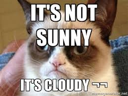 It's not sunny It's cloudy ¬¬ - Angry Cat Meme | Meme Generator via Relatably.com