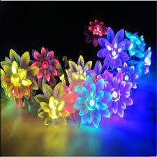 10M 100 LED <b>Lotus Flowers String Fairy</b> lights Christmas Garland ...