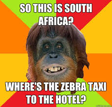So this is South Africa? Where's the zebra taxi to the hotel ... via Relatably.com