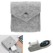 Home <b>Storage Bags Mini</b> Earphone <b>Storage Bag</b> Felt <b>Pouch</b> Case ...