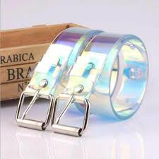 Colorful Transparent <b>Resin Plastic Women</b> Pin Buckle <b>Waist Belt</b> ...