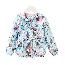 ACE LOVE Girls Jackets <b>2018 New Spring Casual</b> Graffiti Hooded ...