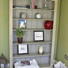 Grey White Shabby <b>Chic</b> Antique Pine <b>Bookcase</b> Artwork, Shabby ...
