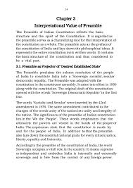 role of preamble in the interpretation of constitution