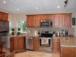 limestone tiles kitchen: traditional kitchen with raised panel limestone tile  freestanding electric range