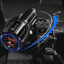 Quick Charge 3.0 <b>Car Charger Dual</b> Usb for Citroen C1 C2 C3 C4 ...