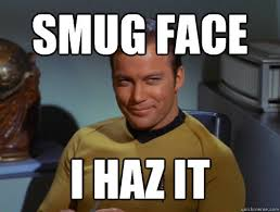 Meme me up, Scotty - Smug Kirk - quickmeme via Relatably.com