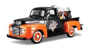 Maisto Tech <b>Maisto</b>-<b>1:24 Pick up</b> Truck with 1:24 Motorcycle - H-D ...