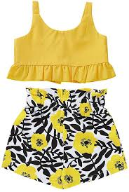 XEDUO Toddler Kids Baby Girls Sling Top Vest Floral ... - Amazon.com