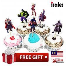 ISALES <b>24pcs Super Hero</b> theme cartoon character cake topper ...