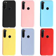 For <b>Phone</b> Case <b>Xiaomi Redmi</b> Note 8T <b>Case Solid</b> Color Matte Soft ...