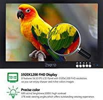 Eyoyo <b>10 Inch</b> IPS LCD 1920x1200 <b>Full HD</b> Monitor with HDMI/BNC ...