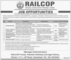 job in railway construction railcop job 2016 project job in railway construction railcop job 2016 project director site supervisor interior designer