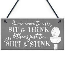 <b>Funny Toilet</b> Signs for sale | eBay