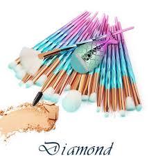 Pro <b>21Pcs</b> Mermaid Beauty <b>Makeup Brushes</b> Set Eyebrow ...