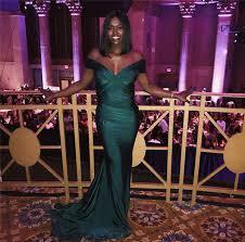 <b>Hunter Green Mermaid</b> Prom Dresses Cheap <b>2019</b> Elegant Off ...