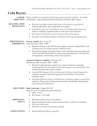 resume examples objective section of  seangarrette co resume examples objective section