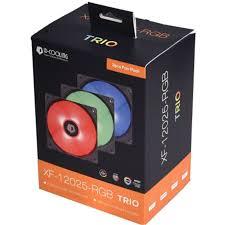 <b>ID</b>-<b>COOLING</b> 12V SYNC RGB 120mm fan <b>XF</b>-<b>12025</b>-<b>RGB TRIO</b> for ...