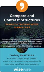 17 best ideas about compare and contrast examples compare and contrast structures playlist and teaching notes