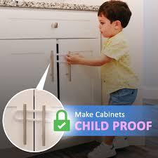<b>Child Safety</b> Sliding Cabinet <b>Locks</b> (4 Pack) - <b>Baby Proof</b> Knobs ...