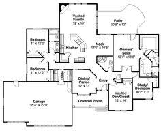 images about House plans on Pinterest   Floor plans  Square    Floor Plans AFLFPW   Story Bungalow Home   Bedrooms  Bathrooms and