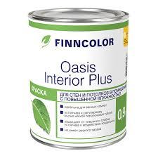 <b>Краска</b> в/<b>д д</b>/<b>влажн</b>.<b>Finncolor OASIS</b> INTERIOR PLUS 0.9л белая ...
