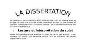 Dissertation gratuite   comment faire une dissertation Sujet   la dissertation