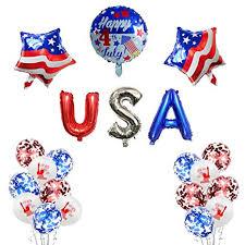 BUSOHA <b>Patriotic</b> Decorations 4th of July Party <b>Balloons</b>- Red White ...