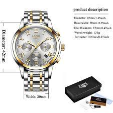 Watches <b>Mens</b> Full Steel Quartz Analog Wrist Watch <b>Men Luxury</b> ...