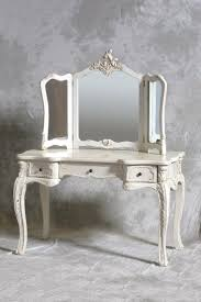 a chateau french antique style cream dressing table 3 fold mirror is a gorgeous french bedroom furniture bedside cabinets mirror antique