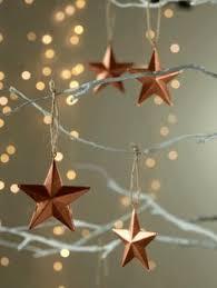 Six Copper <b>Hanging Stars</b> - <b>Christmas Tree</b> Decorations - Christmas ...