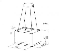 Кухонная <b>вытяжка MAUNFELD Box Rope</b> Isla 50 черный