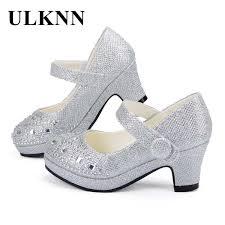 <b>ULKNN</b> Children Princess Shoes For <b>Girls</b> Sandals High Heel Glitter ...