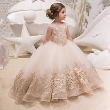 2-13Y Flower Girl Dress Fashion <b>Kids Sleeveless Floor-length</b> ...
