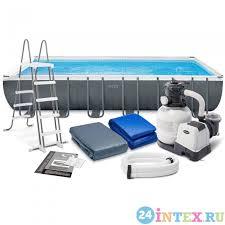 Каркасный бассейн <b>Intex Ultra</b> Frame 732x366x132 см + песочный ...